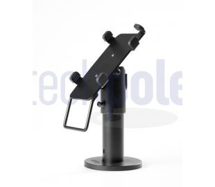 Card payment terminal stand with a metal  rotating & tilting ball